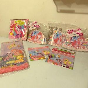 My little pony birthday stuff